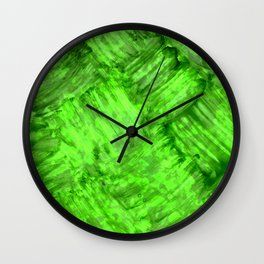 Green Patches Wall Clock