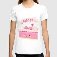 pie T-shirts featuring Cute pie by Alice Wieckowska