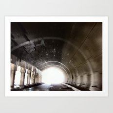 End of the Tunnel Art Print