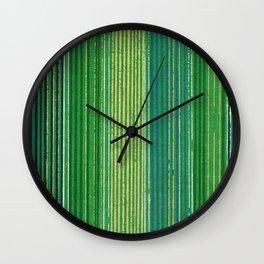 Vintage Japanese Textile Woodcut Wall Clock