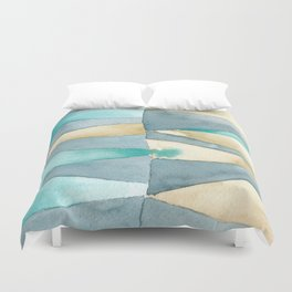 Triangle Quilt Abstract Duvet Cover