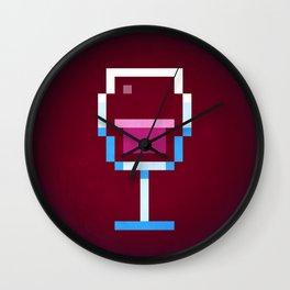 Pixel Wine Wall Clock