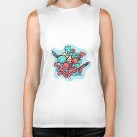 doodle Biker Tanks featuring Doodle by Frostwindz