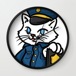 police policeman officer gift security guard law Wall Clock