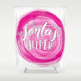 Santa's Helper Shower Curtain
