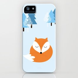 Sweet dreams with fox iPhone Case