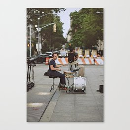 Drummer in the Park Canvas Print