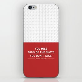 Lab No. 4 - Wayne Gretzky Hockey Player Quotes Poster iPhone Skin