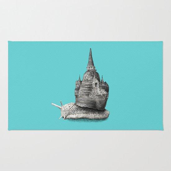 The Snail's Dream (monochrome option) Rug