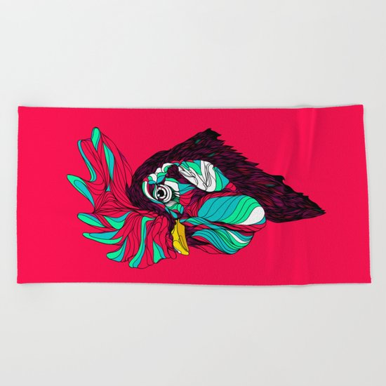 Rooster. Beach Towel