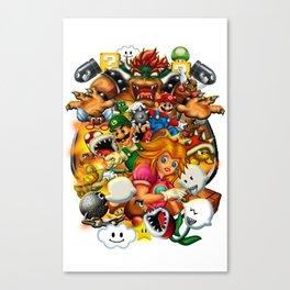 Super Mario Bros. Battle Canvas Print