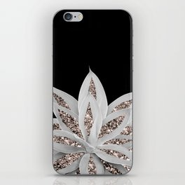 Gray Agave with Rose Gold Glitter #2 #shiny #tropical #decor #art #society6 iPhone Skin