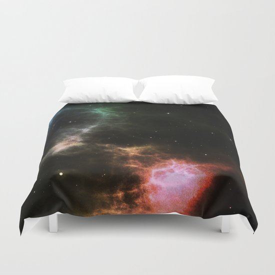 Colorful Nebula Duvet Cover