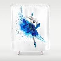 ballet Shower Curtains featuring Ballet  by Zdenka Koskova