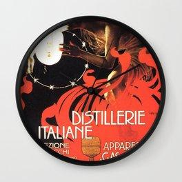 Vintage poster - Distillerie Italiane Wall Clock