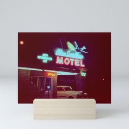 the blue swallow motel Mini Art Print