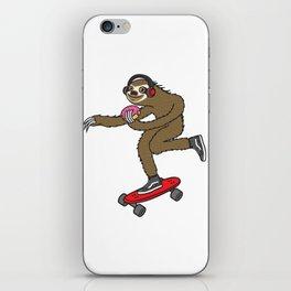 Skater Sloth Donut iPhone Skin