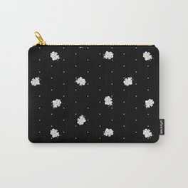 Gardenia pattern black Carry-All Pouch