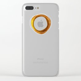 Solar Eclipse MCM Gold-Blue Clear iPhone Case