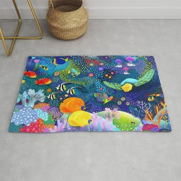 Ocean Tropical Fish Life Rug