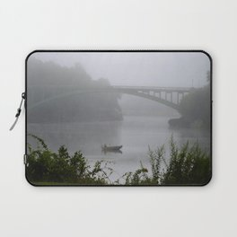 Foggy Fishing Day on the Delaware River Laptop Sleeve