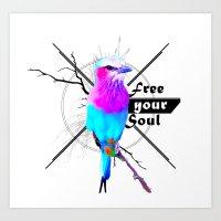 free your soul Art Print