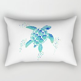 Neptune's Turtle Rectangular Pillow