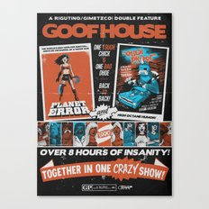 Goofhouse Double Feature: Planet Error + Ouch Proof Canvas Print