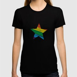LGBT Rainbow Star Rainbow Pride Love Retro T-shirt