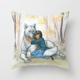 Brother Wolf: Dream Throw Pillow
