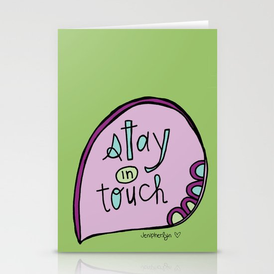 Stay In Touch Stationery Cards