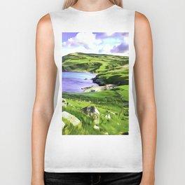 Torr Head View, Ireland. (Painting.) Biker Tank