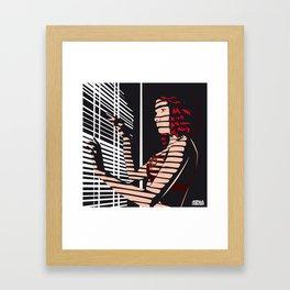 02 - SHADOW GIRL Framed Art Print