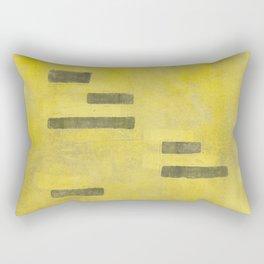 Stasis Gray & Gold 3 Rectangular Pillow