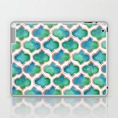 Blue/Green Moroccan Pattern Laptop & iPad Skin