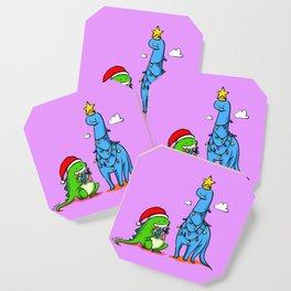 Dinosaurs - Christmas Tree Santa Coaster