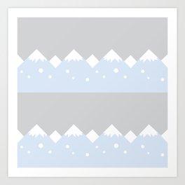 snow mountains baby room Art Print
