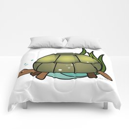 Turtle in a Circle Comforters