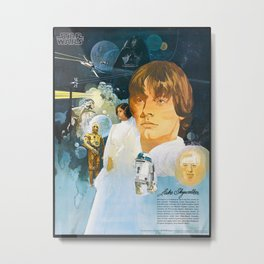 Classic Luke SkyWalker Metal Print