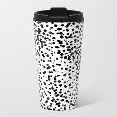 Retro Themed Dot Pattern Design Metal Travel Mug