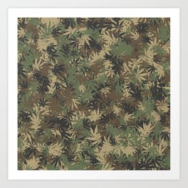 Weed camouflage Art Print