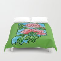 indiana Duvet Covers featuring Indiana Flower by mothermary
