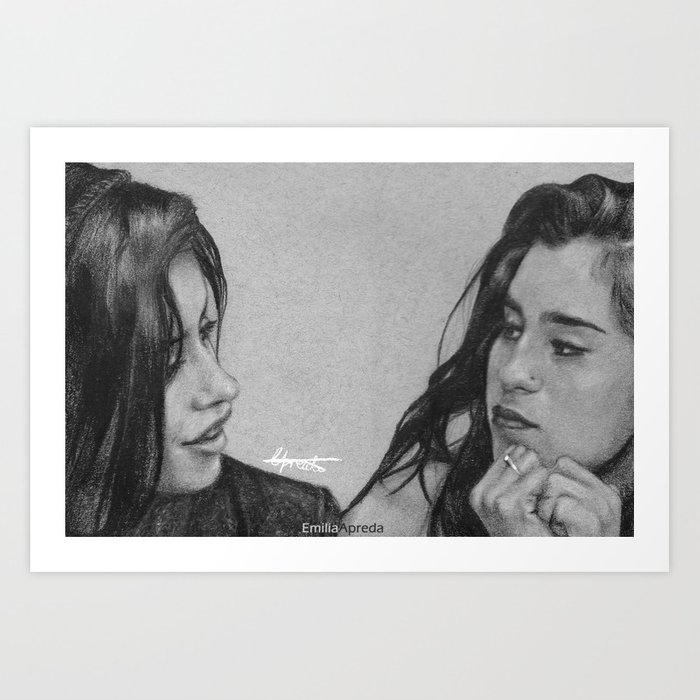 Camren pencil sketch art print