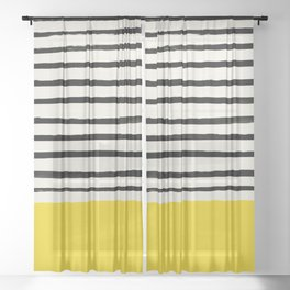 Sunshine x Stripes Sheer Curtain