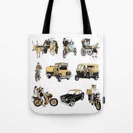 Indian Transportation Tote Bag