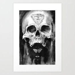 Shamanic Skull Art Print
