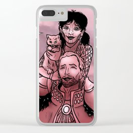 Sigrun, Anders, and Ser Pounce-A-Lot Clear iPhone Case
