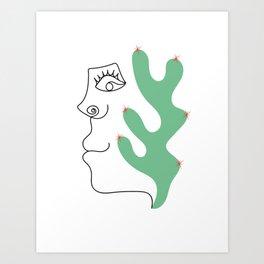Cactoface Art Print