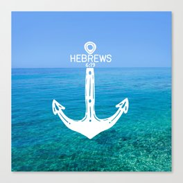Hebrews Anchor Ocean Canvas Print