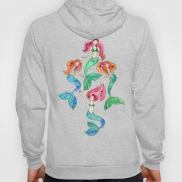 Merry Mermaids in Watercolor Hoody